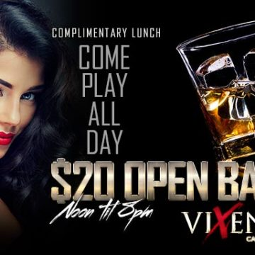 Happy Hour $20 Open Bar