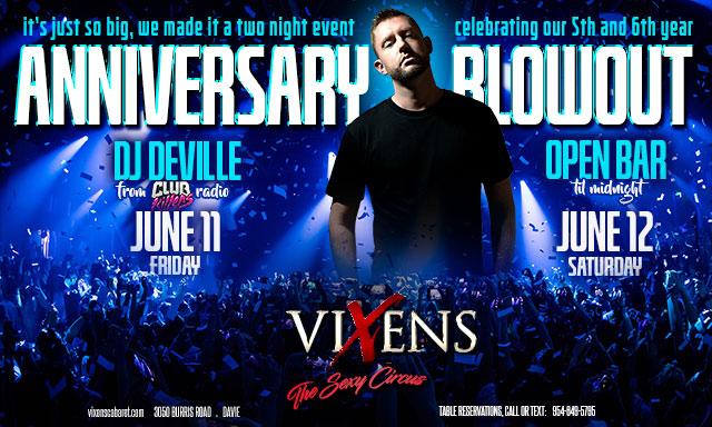 DJ Deville-Club Killers & Vixens 2 Night Anniversary Blowout