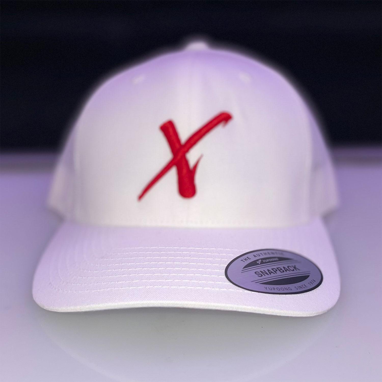 Hat (White Red X)